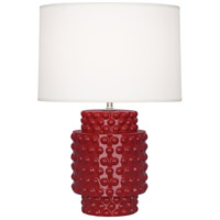 Robert Abbey Oxblood Ceramic Table Lamps