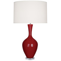 Robert Abbey OX980 Audrey 34 inch 150 watt Oxblood Table Lamp Portable Light