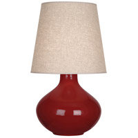 Robert Abbey OX991 June 31 inch 150 watt Oxblood Table Lamp Portable Light in Buff Linen