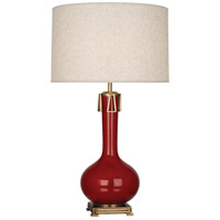 Robert Abbey OX992 Athena 32 inch 150 watt Oxblood with Aged Brass Table Lamp Portable Light thumb