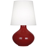 Robert Abbey OX993 June 31 inch 150 watt Oxblood Table Lamp Portable Light in Oyster Linen