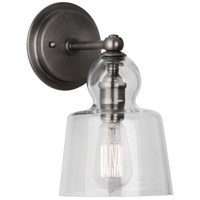 Albert 1 Light 6 inch Patina Nickel Wall Sconce Wall Light