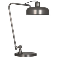 Robert Abbey P747 Albert 13 inch 60 watt Patina Nickel Table Lamp Portable Light thumb