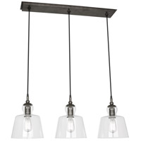 Robert Abbey P753 Albert 3 Light 9 inch Patina Nickel Pendant Ceiling Light
