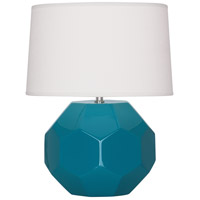 Robert Abbey PC02 Franklin 16 inch 60.00 watt Peacock Glazed Ceramic Accent Lamp Portable Light