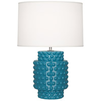 Robert Abbey Peacock Ceramic Table Lamps