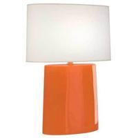 Robert Abbey PM03 Victor 26 inch 100.00 watt Pumpkin Glazed Ceramic Table Lamp Portable Light