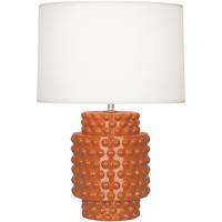 Robert Abbey PM801 Dolly 21 inch 150 watt Pumpkin Glazed Textured Ceramic Accent Lamp Portable Light