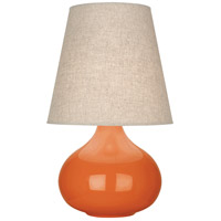 Robert Abbey PM91 June 24 inch 150 watt Pumpkin Glazed Ceramic Accent Lamp Portable Light
