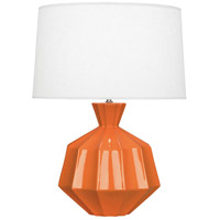 Robert Abbey PM999 Orion 27 inch 150 watt Pumpkin Table Lamp Portable Light Polished Nickel Accents