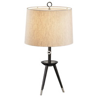 Robert Abbey Ventana 1 Light Table Lamp in Ebony Wood with Lnn Accents PN670