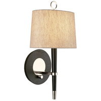 Jonathan Adler Ventana 1 Light 9 inch Ebony Wood w/ Polished Nickel Wall Sconce Wall Light