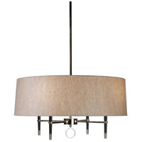 Robert Abbey PN685 Jonathan Adler Ventana 4 Light 15 inch Ebonyed Wood with Polished Nickeled Chandelier Ceiling Light