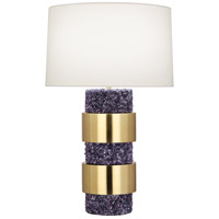 Robert Abbey PR577 Betty 30 inch 150 watt Polished Purple Stone with Modern Brass Table Lamp Portable Light