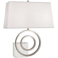 Robert Abbey R910 Jonathan Adler Saturn 24 inch 100.00 watt Polished Nickel / White Marble Table Lamp Portable Light