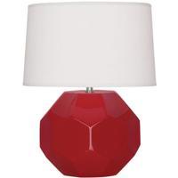 Robert Abbey RR01 Franklin 24 inch 150.00 watt Ruby Red Glazed Ceramic Table Lamp Portable Light