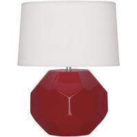 Robert Abbey RR02 Franklin 16 inch 60.00 watt Ruby Red Glazed Ceramic Accent Lamp Portable Light