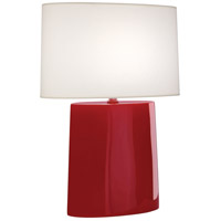 Robert Abbey RR03 Victor 26 inch 100.00 watt Ruby Red Glazed Ceramic Table Lamp Portable Light