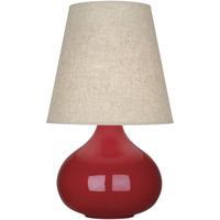 Robert Abbey RR91 June 24 inch 150 watt Ruby Red Glazed Ceramic Accent Lamp Portable Light