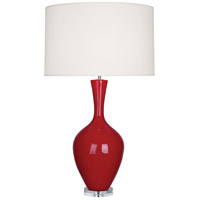 Robert Abbey RR980 Audrey 34 inch 150 watt Ruby Red Table Lamp Portable Light