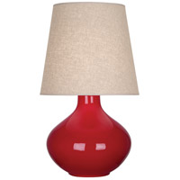 Ruby Red Ceramic June Table Lamps