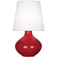 Robert Abbey RR993 June 31 inch 150 watt Ruby Red Table Lamp Portable Light in Oyster Linen