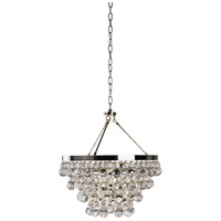 Robert Abbey S1000 Bling 4 Light 21 inch Polished Nickel Chandelier Ceiling Light thumb