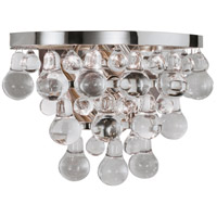 Robert Abbey S1001 Bling 2 Light 13 inch Polished Nickel Wall Sconce Wall Light