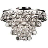 Bling 2 Light 17 inch Polished Nickel Flush Mount Ceiling Light
