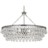 Robert Abbey S1004 Bling 6 Light 35 inch Polished Nickel Chandelier Ceiling Light
