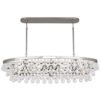 Bling 8 Light 43 inch Polished Nickel Chandelier Ceiling Light