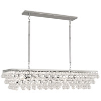 Robert Abbey S1008 Bling 8 Light 43 inch Polished Nickel Chandelier Ceiling Light