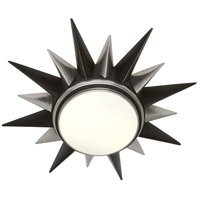 Robert Abbey S1017 Cosmos 2 Light 20 inch Antique Silver with Deep Patina Bronze Flushmount Ceiling Light