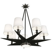 Robert Abbey S1018 Cosmos 8 Light 36 inch Deep Patina Bronze with Antique Silver Chandelier Ceiling Light
