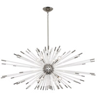 Robert Abbey S1200 Andromeda 8 Light 15 inch Polished Nickel with Clear Acrylic Chandelier Ceiling Light
