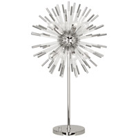 Robert Abbey S1202 Andromeda 33 inch 40 watt Polished Nickel with Clear Acrylic Table Lamp Portable Light