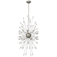 Robert Abbey S1206 Andromeda 8 Light 20 inch Polished Nickel / Lucite Chandelier Ceiling Light