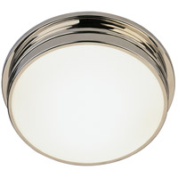 Robert Abbey S1314 Roderick 2 Light 14 inch Polished Nickel Flushmount Ceiling Light