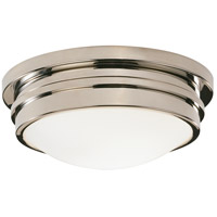 Robert Abbey S1316 Roderick 1 Light 15 inch Polished Nickel Flushmount Ceiling Light