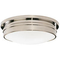 Robert Abbey S1317 Roderick 3 Light 17 inch Polished Nickel Flushmount Ceiling Light