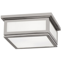 Robert Abbey S1338 Bradley 2 Light 10 inch Polished Nickel Flushmount Ceiling Light thumb