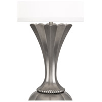 Robert Abbey S1441 Williamsburg Clementina 30 inch 150 watt Blackened Antique Silver Table Lamp Portable Light alternative photo thumbnail