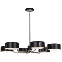 Robert Abbey S1551 Simon 6 Light 15 inch Polished Nickel Chandelier Ceiling Light