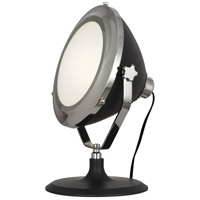 Robert Abbey S1580 Apollo 13 inch 60 watt Polished Nickel with Charcoal Gray Painted Table Lamp Portable Light thumb