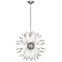 Robert Abbey S165 Andromeda 8 Light 20 inch Polished Nickel with Clear Acrylic Rods Chandelier Ceiling Light thumb