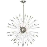 Polished Nickel and Clear Acrylic Chandeliers