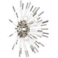 Robert Abbey S167 Andromeda 4 Light 18 inch Polished Nickel with Clear Acrylic Rods Wall Sconce Wall Light