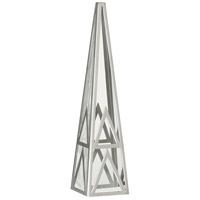 Robert Abbey S1920 Apex Clear Crystal with Polished Nickel Obelisk