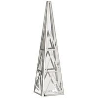 Robert Abbey S1921 Apex Clear Crystal with Polished Nickel Obelisk