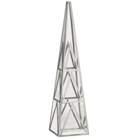 Robert Abbey S1922 Apex Clear Crystal with Polished Nickel Obelisk